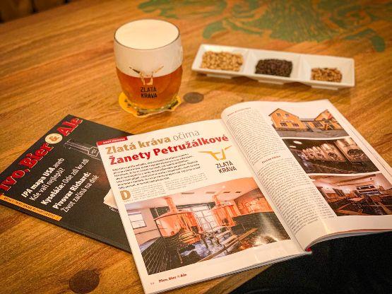 Pivo, Bier and Ale: Zlatá kráva očima Žanety Petružálkové